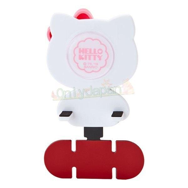 4901610944912 車用手機導航架-KT正坐粉結黑AAEQ 凱蒂貓kitty 儀表板手機架 車用手機架 車用手機支架 車用支架 手機夾 真愛日本