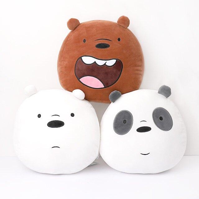 【We bare bears頭型厚抱枕 12吋】Norns 熊熊遇見你正版 靠墊靠枕 午安枕