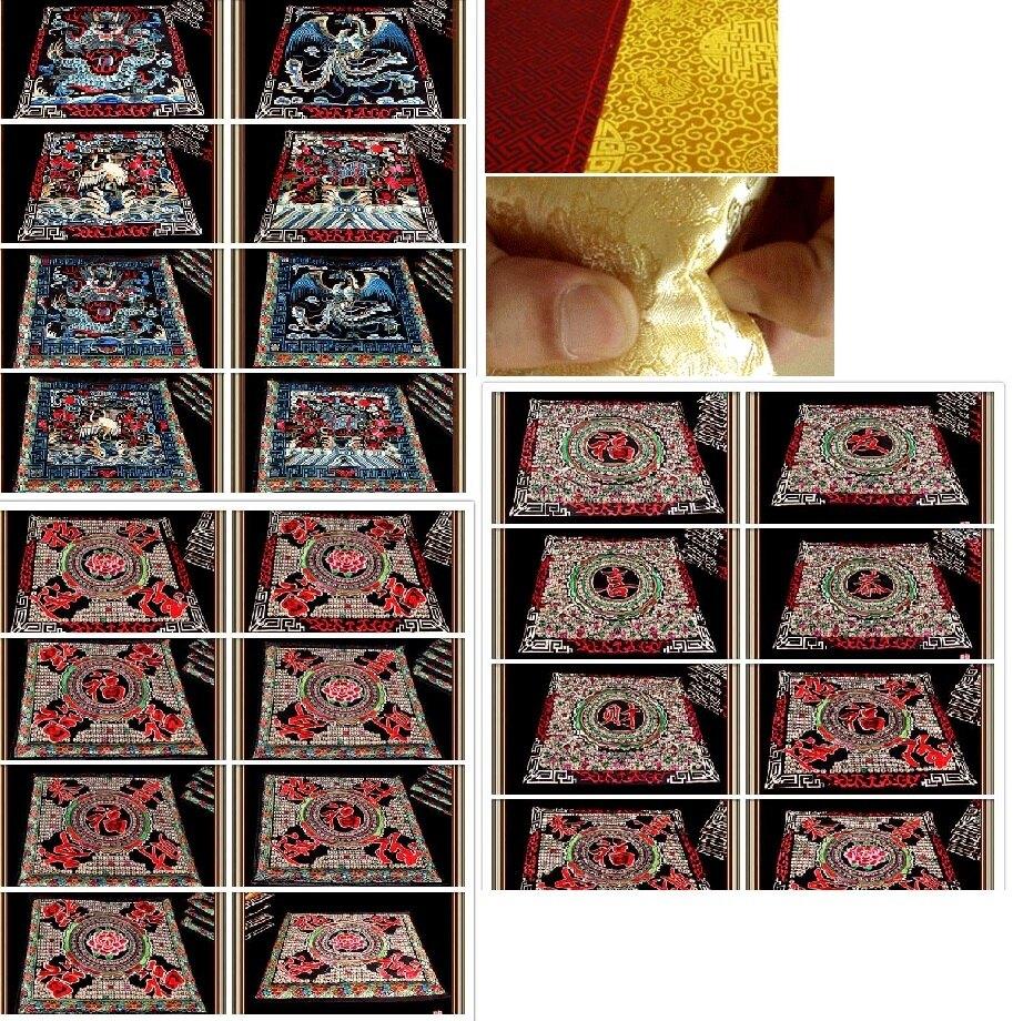 民族刺繡花 中國貴州風情喜慶文字海綿座墊