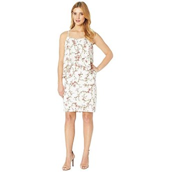[LAUREN Ralph Lauren(ローレンラルフローレン)] ドレス・ワンピース B837 Cam Anella Pebble Crepe Sleeveless Day Dress Cashew/Peach/Multi M [並行輸入品]