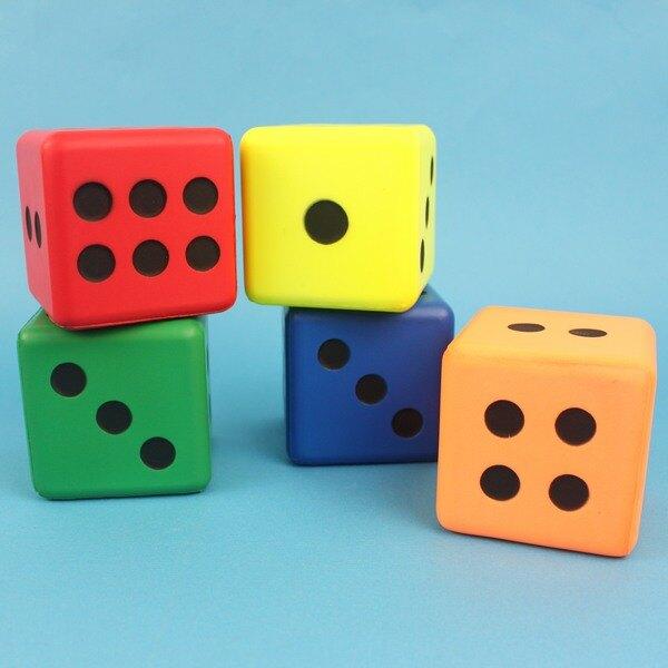 大PU骰子 Pu骰子 彩色安全骰子15cm/一袋10個入(促299)~偉 Pu色子 減壓骰子 樂樂安全骰子 台灣製造