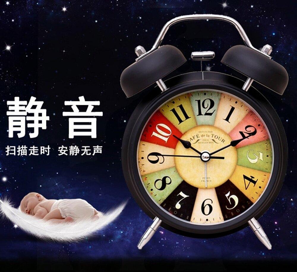 鬧鐘床頭學生靜音創意夜光簡約臥室時尚兒童電子多功能小鬧鐘WY 雙12購物節
