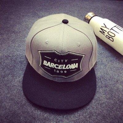 [超豐國際]歐美嘻哈灰色字母刺繡反戴魔術貼棒球帽男韓版可調節1入