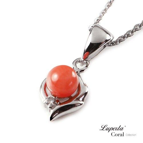 大東山珠寶 如意亨通 全紅珊瑚項鍊墜飾