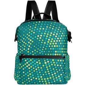 ドット 水玉 リュック 学生用 デイパック レディース 大容量 バックパック 男女兼用 機能性 大容量 防水性 デザイン 旅行 ブックバッグ ファション