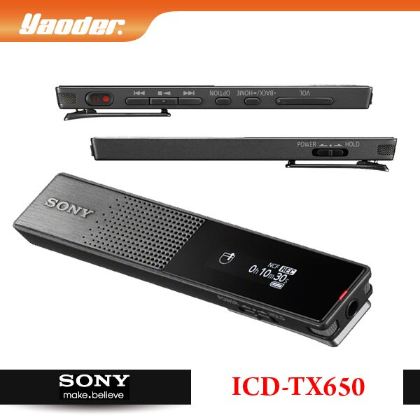 【預購】SONY ICD-TX650 數位錄音筆 16GB 極致輕薄 ★免運★送絨布收納袋★