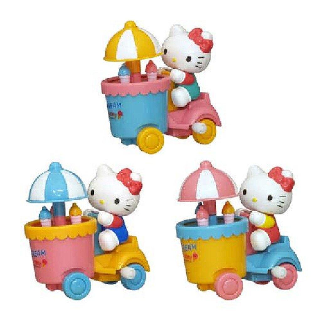 Hello Kitty 冰淇淋發條玩具車(3款選1) ,玩具車/ 迴力車/模型/玩具/Sanrio,X射線【C096931】