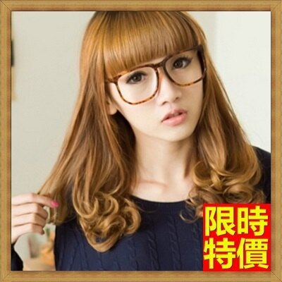 女假髮整頂假髮中長假髮-披肩捲髮可愛齊瀏海女美髮用品3色69o15【獨家進口】【米蘭精品】
