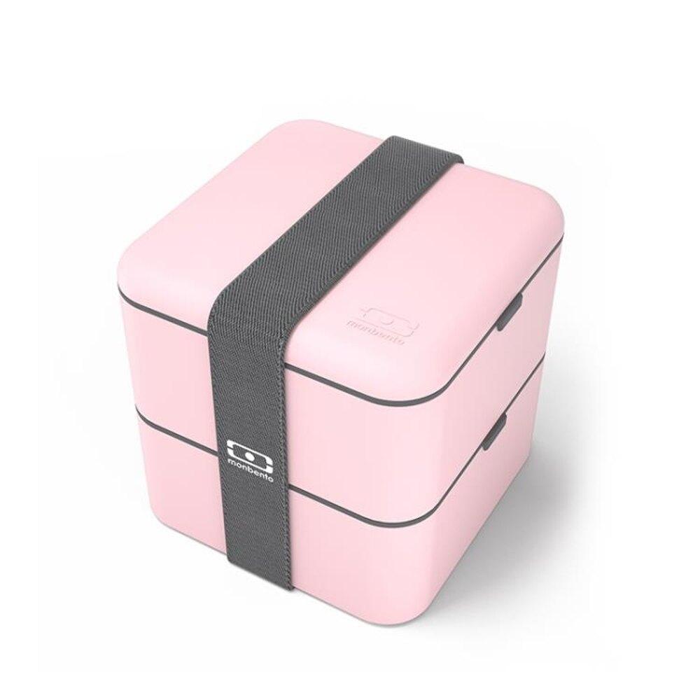 分隔飯盒 法國monbento 雙層方形健身分格盒保鮮日式便當盒微波爐加熱飯盒 曼慕衣櫃