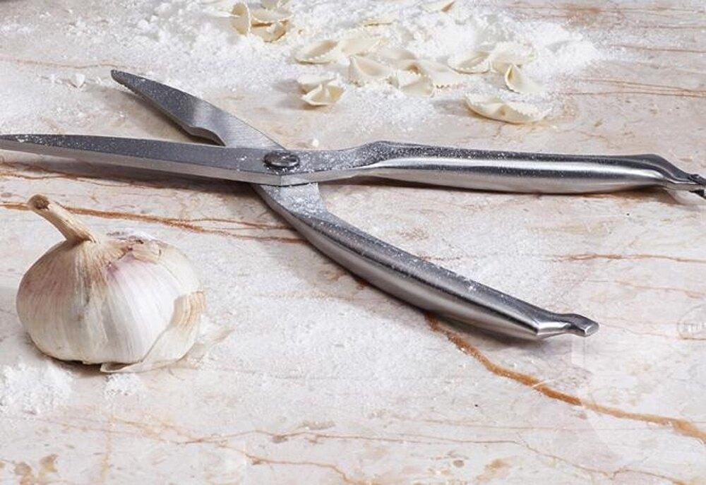 德國YOULET自動回彈剪刀雞骨剪家用不銹鋼廚房剪刀多功能食物剪 艾家生活