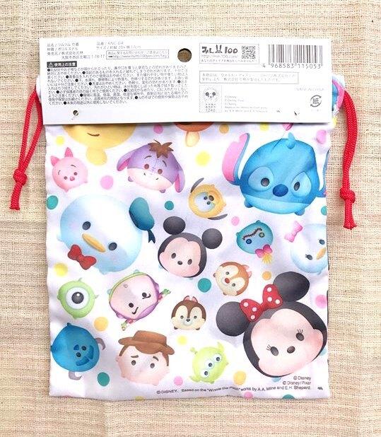 日本 迪士尼 TSUM TSUM 束口收納袋/束口袋/零錢包/糖果袋/化妝包*夏日微風*