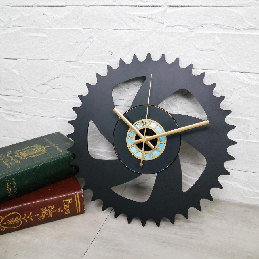 工業風 壁飾 時鐘 黑膠唱片 造型 機械齒輪 掛鐘 靜音時鐘 立體刻度 loft 牆面裝飾 設計 創意 時鐘