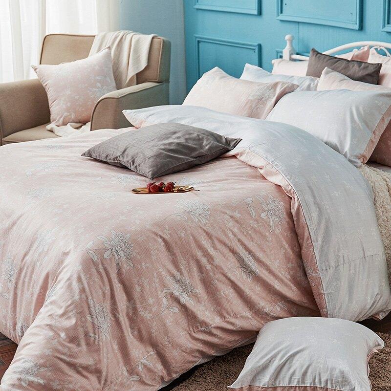 床包兩用被套組 / 雙人加大-100% 匹馬棉【春之舞曲】含兩件枕套 棉中貴族  軟黃金 戀家小舖  台灣製