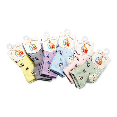 彼得兔/比得兔 防滑寶寶襪9-12cm(顏色隨機出貨)SK3856★愛兒麗婦幼用品★
