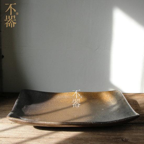 【不器】家 日式粗陶陶瓷茶盤.寬(圖一)
