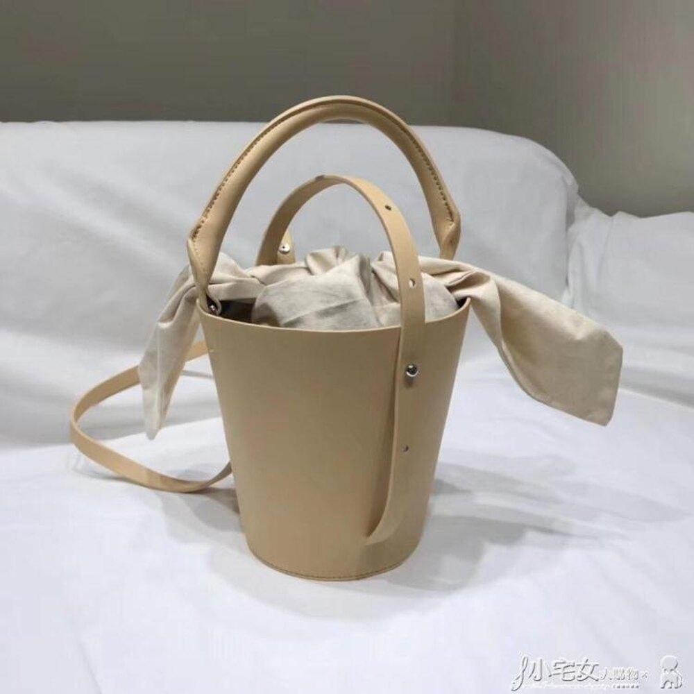 水桶包 女包 新款夏天小包韓國東大門時尚pu菜籃包2WAY迷你水桶包 小宅女 母親節禮物
