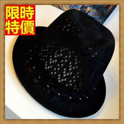爵士帽小禮帽-棉線華麗名媛款小捲邊女帽子3色67e49【獨家進口】【米蘭精品】