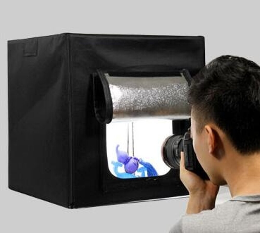 攝影燈 攝影棚 小型可調光led套裝迷你淘寶柔光箱攝影燈拍照道具40CM海騰 MKS免運 清涼一夏钜惠