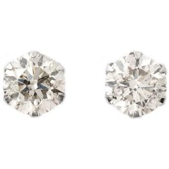 宝石の森 ダイヤモンド ピアス 一粒 0.8カラット プラチナ Pt900 大粒 0.8ct シンプル ダイヤピアス スタッド UGL鑑別カード付き