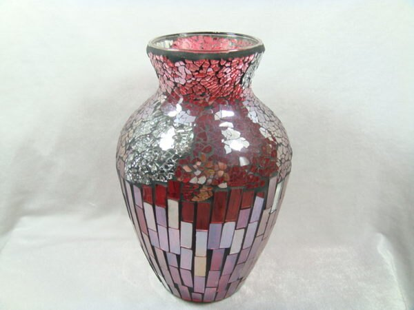 喜慶有餘—玻璃馬賽克花瓶