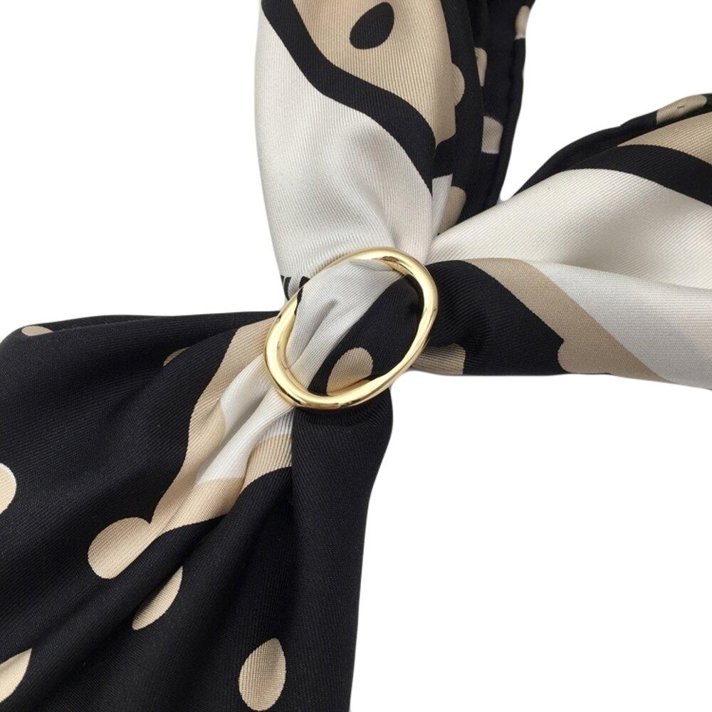 韓國高檔真絲職業小方巾空姐銀行小絲巾扣環飄帶扣T恤衣角扣   夏洛特居家名品