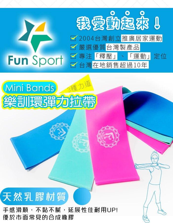 樂訓環彈力拉帶(MINI BANDS/ 迷你環狀彈力帶)-3力道組-FunSport