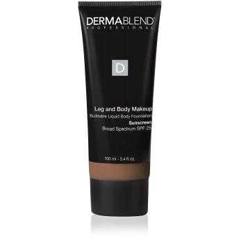 ダーマブレンド Leg and Body Makeup Buildable Liquid Body Foundation Sunscreen Broad Spectrum SPF 25 - #Tan Golden 65N 100ml/3.4oz