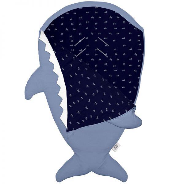 BabyBites 西班牙鯊魚咬一口 嬰兒睡袋(標準版)/湛灰藍
