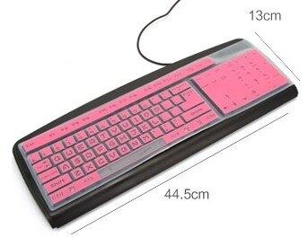 [協貿國際]糖果色防水防污矽膠鍵盤保護膜6入
