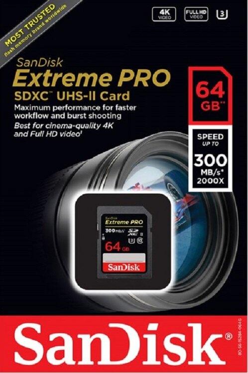SanDisk 64GB 64G SDXC【300MB/s】Extreme Pro ultra II U3 4K C10 V30 SDSDXPK-064G 高速相機記憶卡