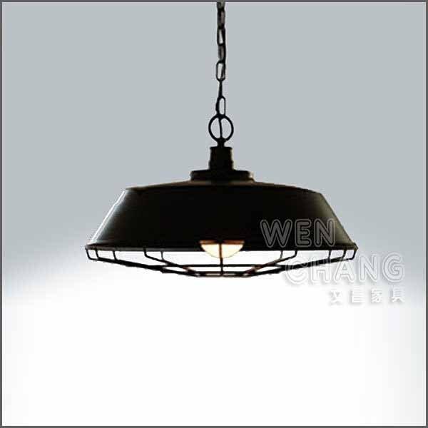 LOFT工業風 燈 有蓋 工業有網吊燈 大款 LC-020L《特價》*文昌家具*