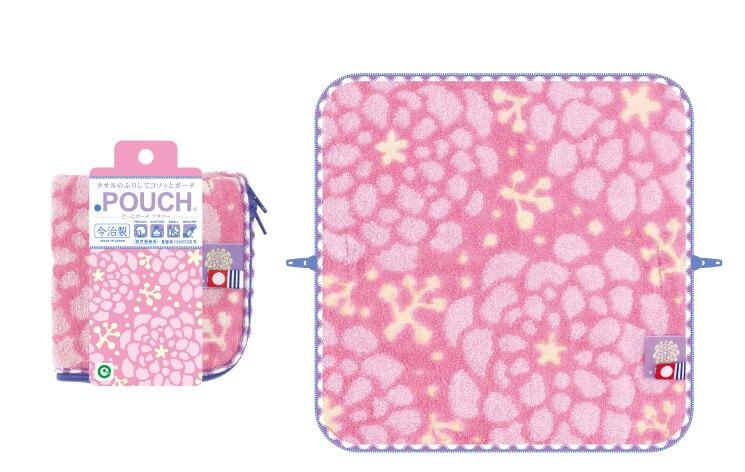 ♫樂日生活學ZAKKA♥ 日本POUCH 拉鏈毛巾包 水壺包 多用途包 今治製 花系列