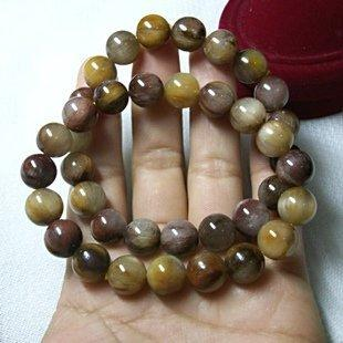 兔毛水晶寶石串珠髮晶手珠 七彩彩色圓珠多彩珠子手鏈