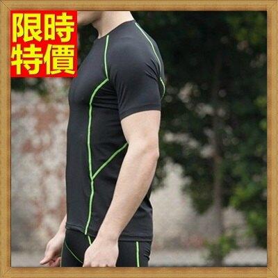 緊身衣健身重訓上衣-舒適貼合彈力不變形短袖運動服3色69m7【獨家進口】【米蘭精品】