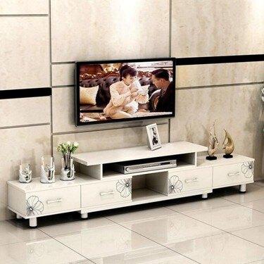 電視櫃電視桌 伸縮組合電視柜多功能電視柜烤漆經濟型電視機柜現代簡約客廳地柜     伊卡萊生活館  聖誕節禮物
