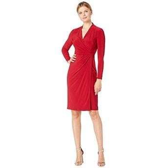[LAUREN Ralph Lauren(ローレンラルフローレン)] ドレス・ワンピース Classic Matte Jersey Faria Long Sleeve Day Dress Scarlet Red XXL [並行輸入品]