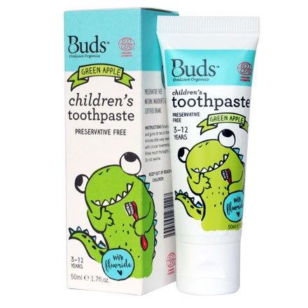 【Buds芽芽】口腔護理系列-含氟牙膏(青蘋果)(3-12歲)