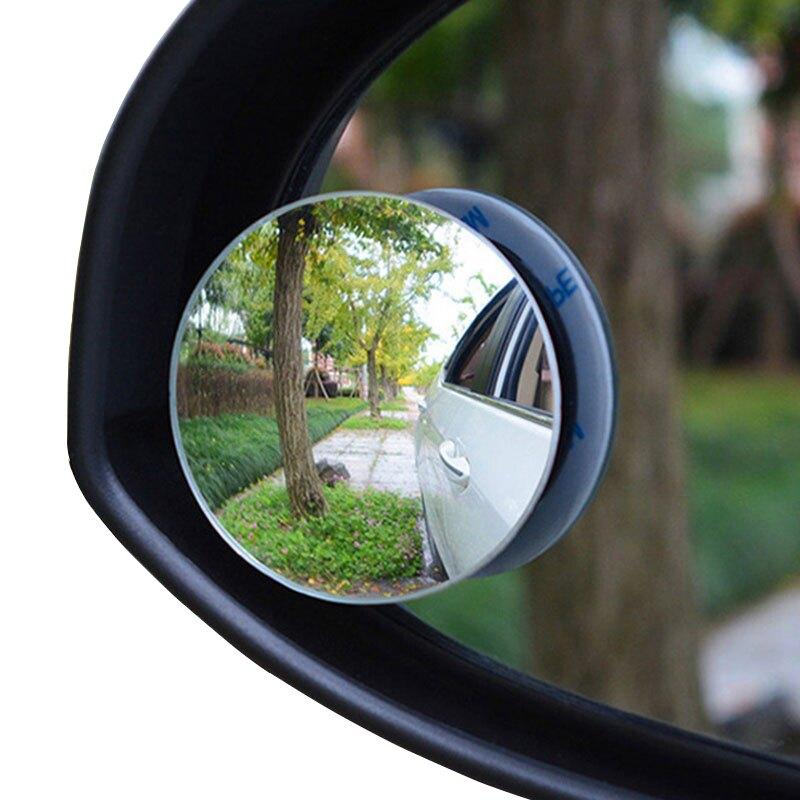 汽車二排後視鏡車內後排座輔助鏡小圓鏡盲點鏡後排倒車鏡高清玻璃無邊框車型通用旋轉調節【CO0155】普特車旅精品