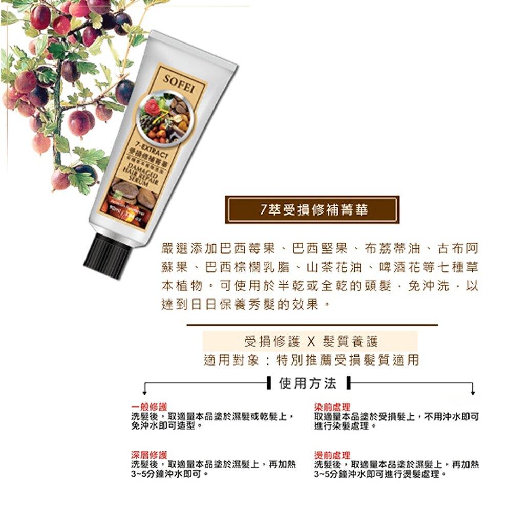 《任選6件,89折》SOFEI 舒妃 7萃受損修補菁華 90ml