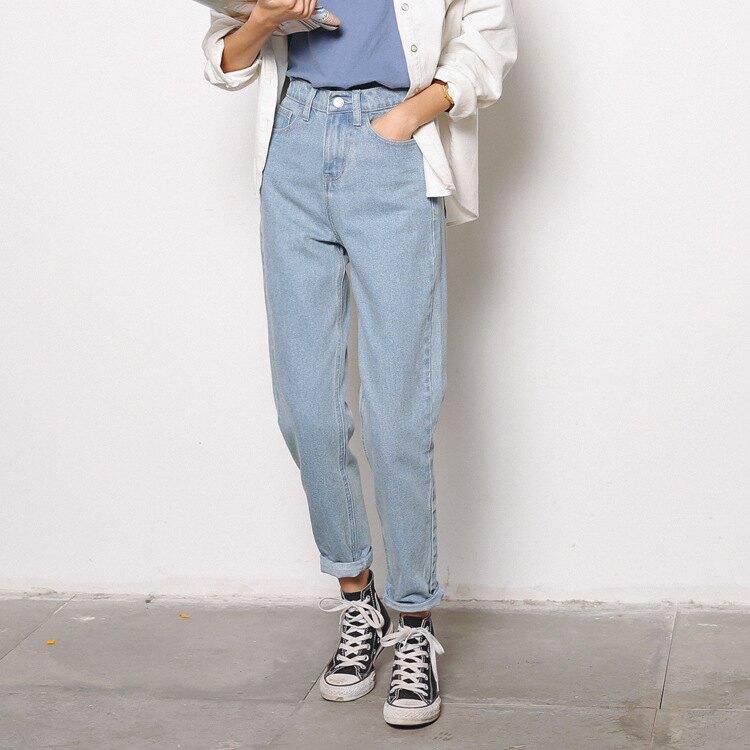 LINAGI里奈子精品【GG19-749】韓KOREA 簡單有型顯瘦復古牛仔長褲