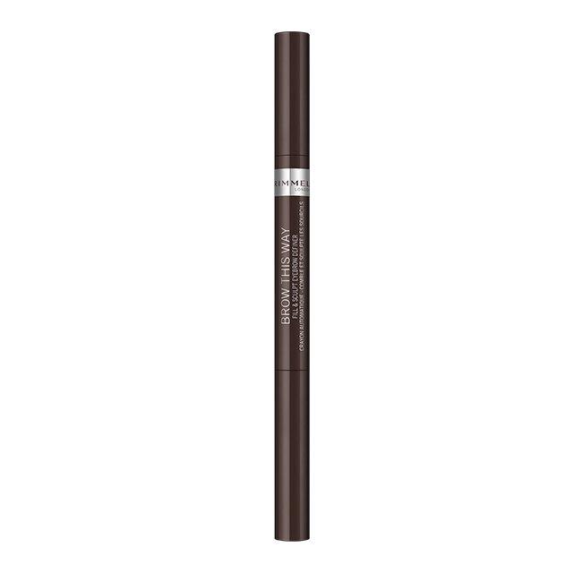 Rimmel 倫敦芮魅就是有型旋轉雙頭眉筆 003 咖啡棕 0.2g