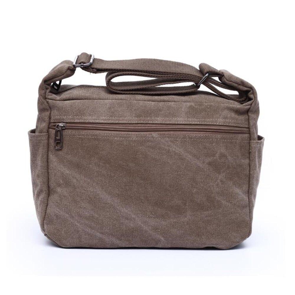 新品潮男女式包大容量戶外斜挎包包單肩休閒帆布工具包書包   全館八五折