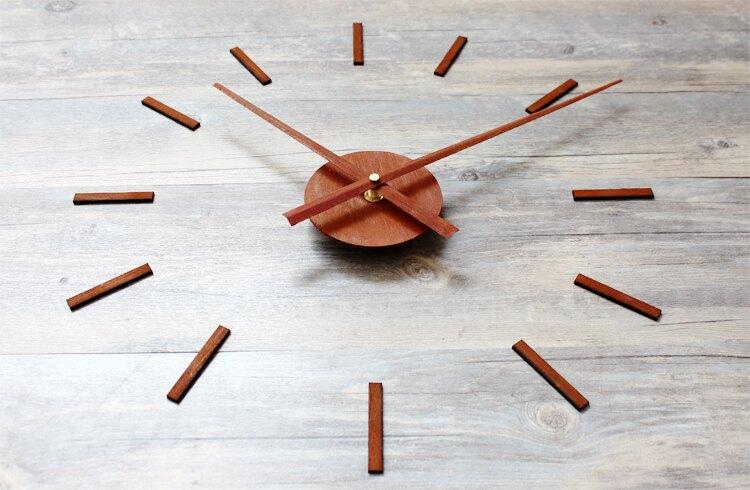立體壁貼DIY時鐘 鐵鏽工業風格加大指針素刻度款靜音掛鐘 仿舊復古流行店牆面設計個性裝飾空間擺飾創意時鐘