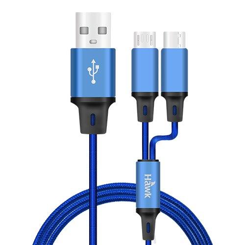 【Hawk】二合一高速充電傳輸線 充電線 傳輸線 充電 數據線 HMC150【迪特軍】