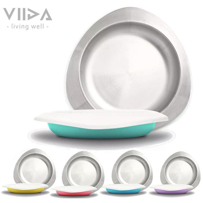 VIIDA Souffl 抗菌不鏽鋼餐盤 (5色) 兒童餐盤 學習餐具 0790 好娃娃