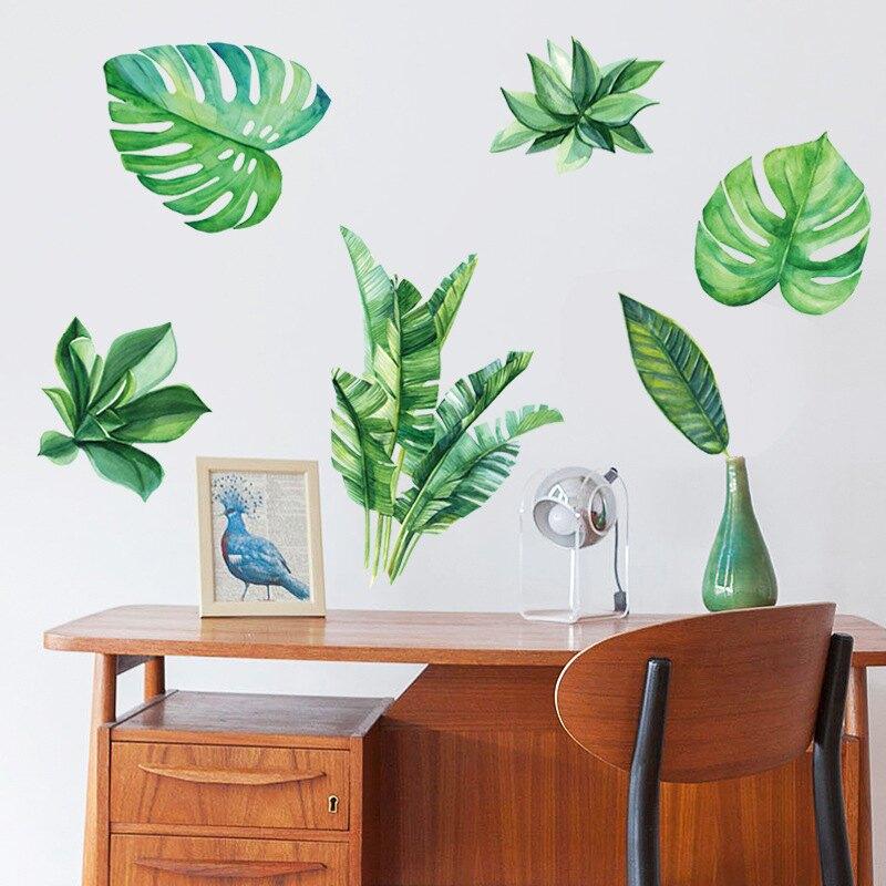 WallFree窩自在DIY牆貼/壁貼 居家裝飾 北歐綠色植物 60X90窩自在