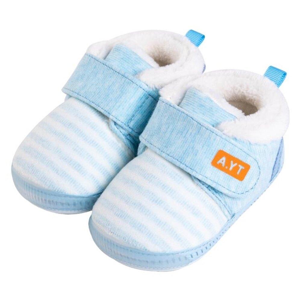 嬰兒鞋 嬰幼兒鞋子男冬季加厚保暖不掉鞋0-6-12個月女寶寶加絨軟底學步鞋 歐歐流行館