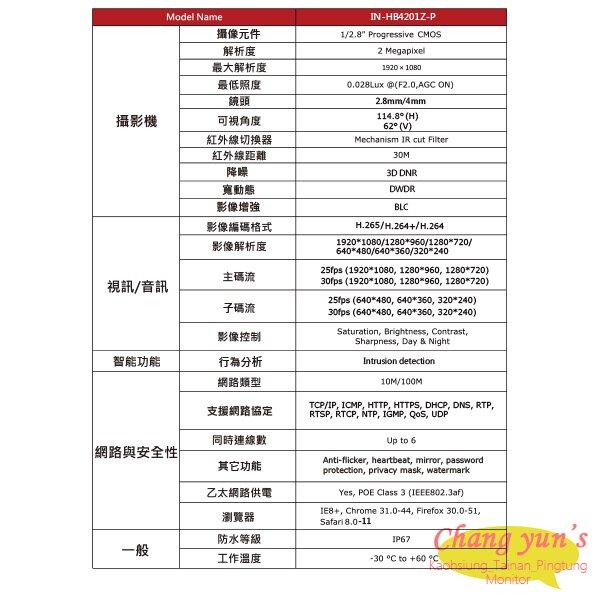 高雄/台南/屏東監視器 ICATCH可取套餐 IVR-0461UC-1 Ultra 4路NVR + IN-HC4201Z-P 網路攝影機*1