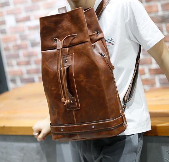 FINDSENSE Z1 韓國 時尚 潮 男 束口 多功能 休閒 旅行包 學生包 書包 後背包 雙肩包 健身包