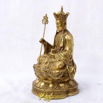 開光銅地藏王菩薩神像消災解難開光家居飾品工藝品轉運擺件